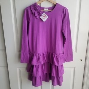 NWT Hanna Andersson Girls Tiered Dress Size 160
